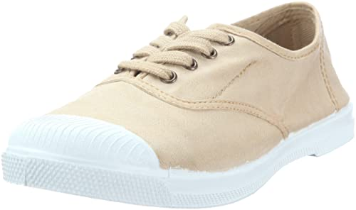 Natural World Ingles Elastico Cordones - Zapatillas de lona mujer, color beige, talla 35: Amazon.es: Zapatos y complementos