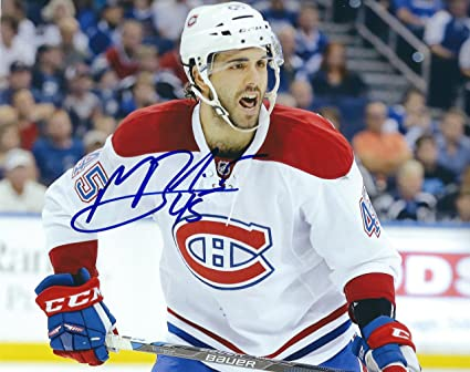low priced 706a0 e52b7 Autographed Mark Barberio 8x10 Montreal Canadiens Photo at ...