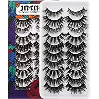 JIMIRE 10 Styles Mixed False Eyelashes Natural Fluffy False Lashes 3D Volume Lashes Pack