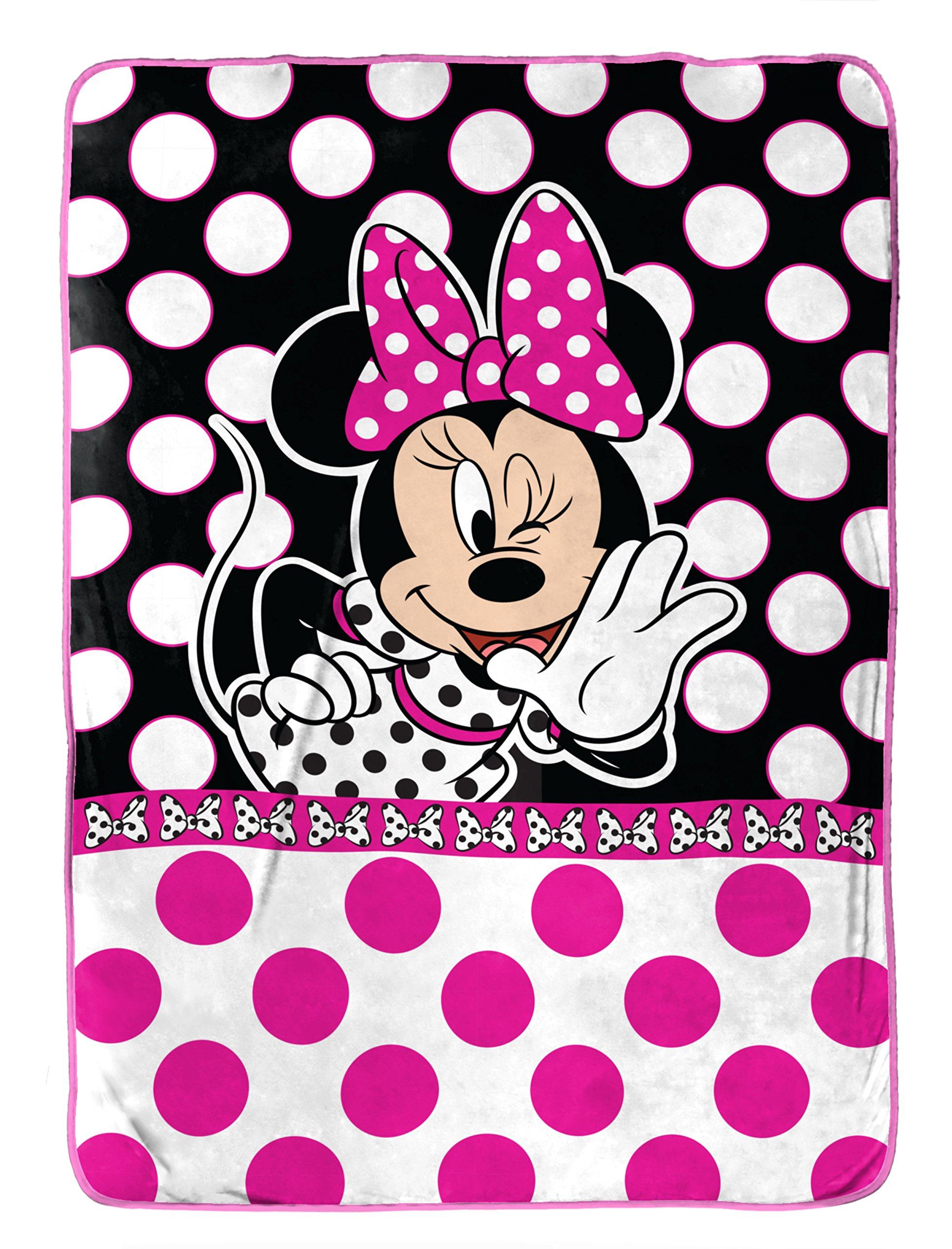 Disney Minnie Mouse All About Dots Silk Touch 62 X 90 Twin Blanket by Jay Franco