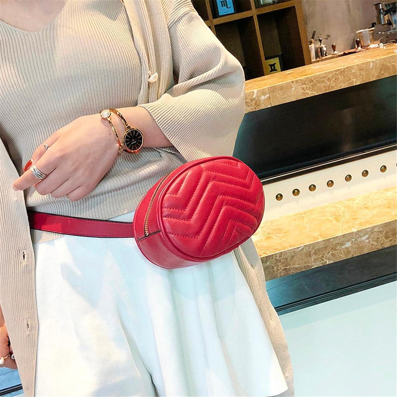 Londony Waist Packs,Stripe Faux Leather Zipper Waist Pack Fanny Bag Cross Body Bag for Sport Hiking Travel Sale