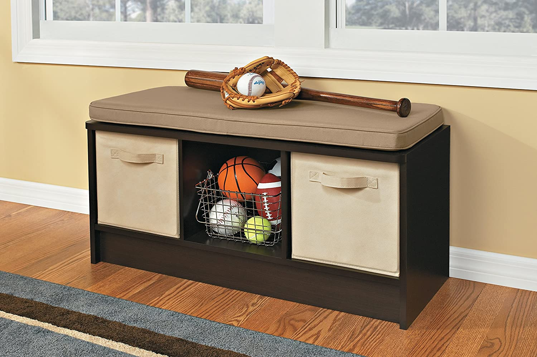 Bon Amazon.com: ClosetMaid 1570 Cubeicals 3 Cube Storage Bench, Espresso: Home  U0026 Kitchen