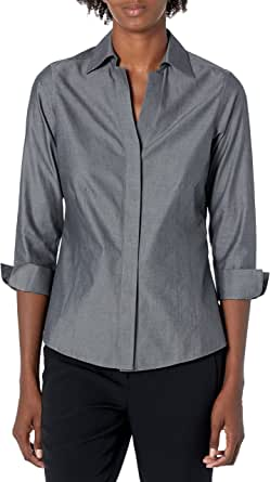 Foxcroft Womens Taylor Essential Non-Iron Shirt Button-Down Shirt