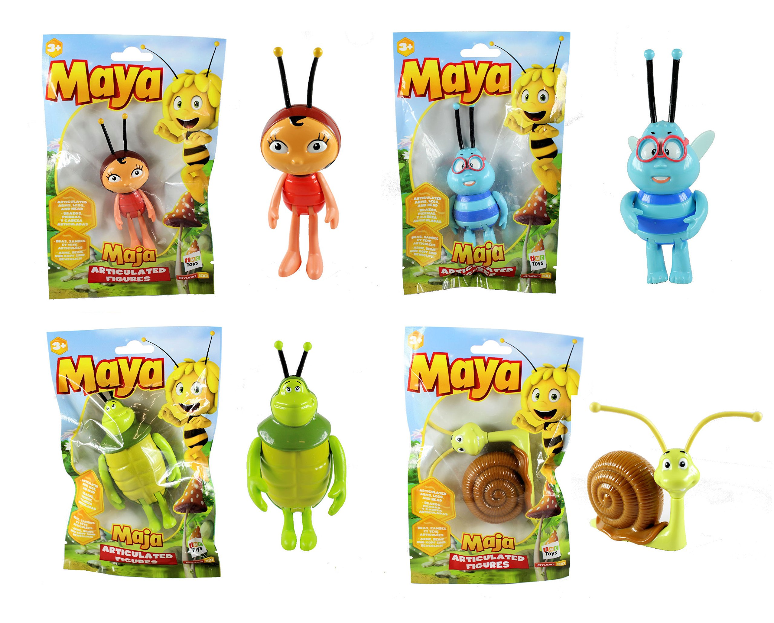 Maya The Bee Maya /& Flip Articulated Character Figures Set of 2