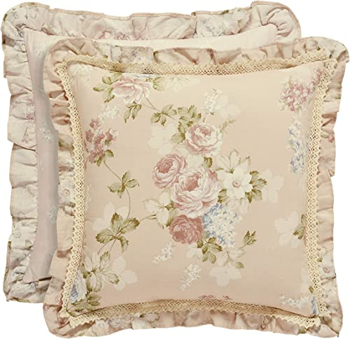 Five Queens Court Andrea 20 Square Decorative Throw Pillow, Blush, 20×20