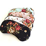 Vintage Rose Sleep Mask for Women Girls Slumber Party Travel Shift Work Mask 4 Colors to Choose from.