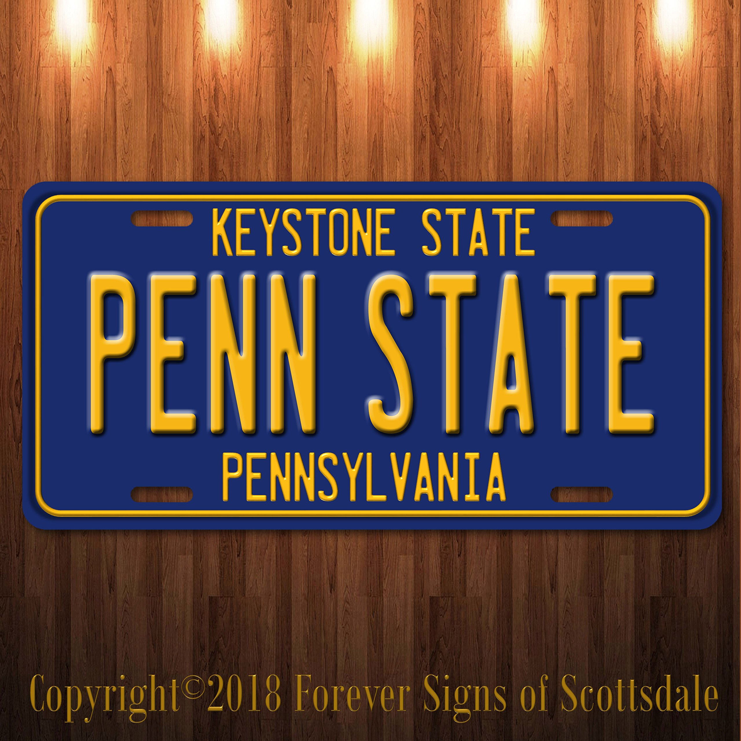 Penn State University College Pennsylvania State Aluminum License Plate Blue