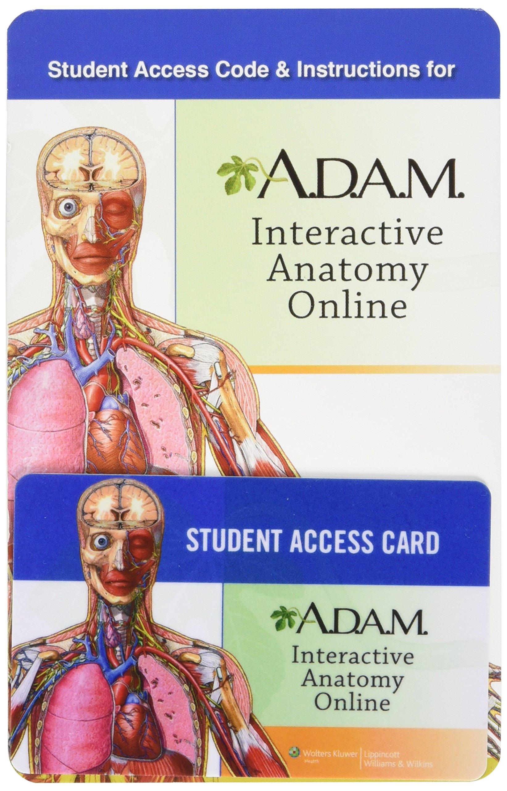 A.d.a.m. Interactive Anatomy Online Access Card: A.d.a.m. ...