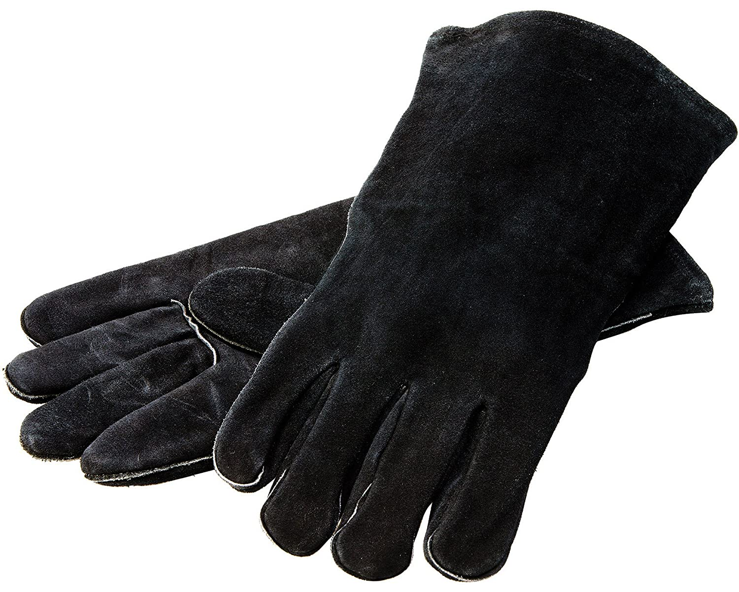 "Lodge 14.5"" Leather Outdoor CookingGloves -Heat Resistant Gloves for Cast Iron Cooking"