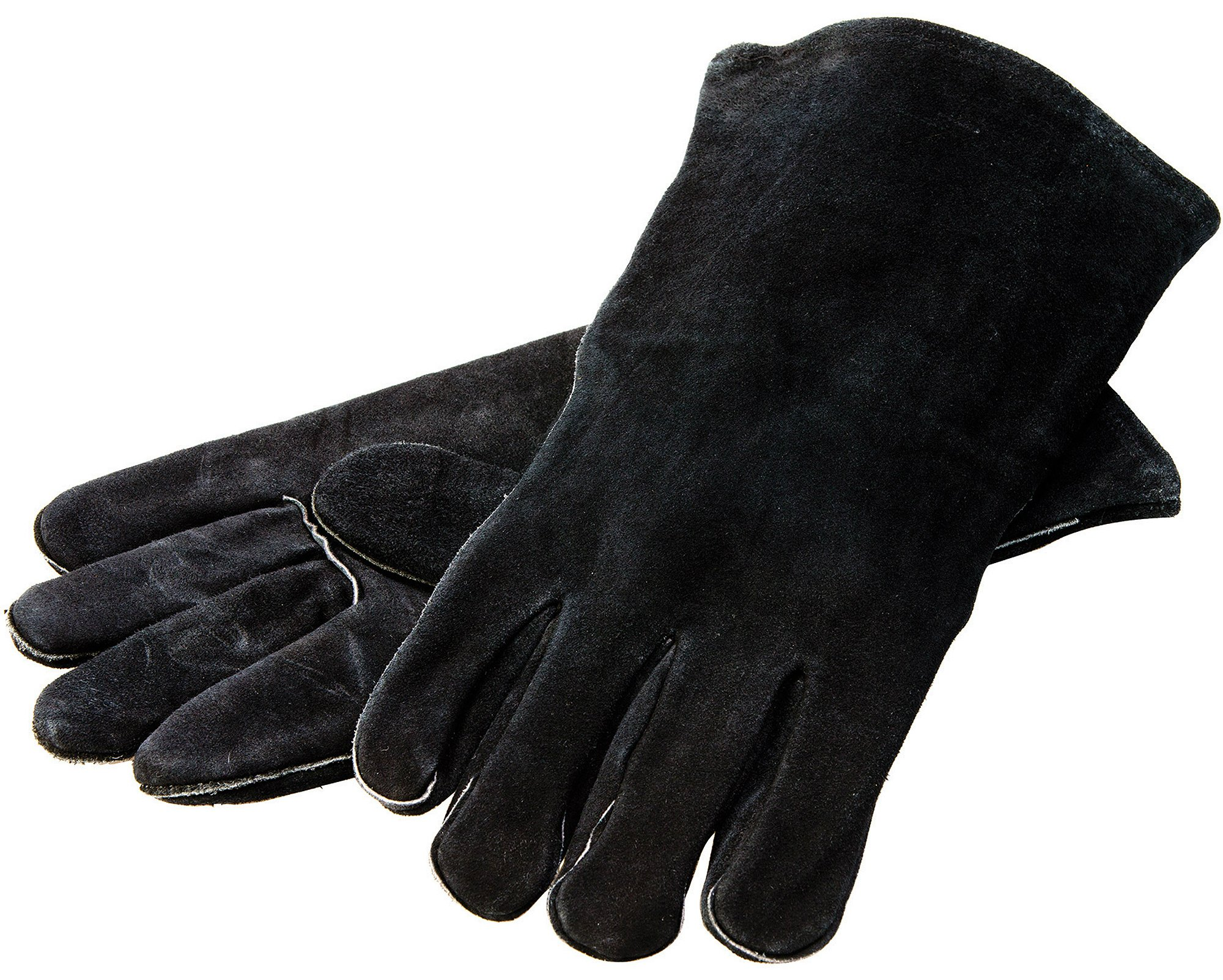 Lodge 14.5'' Leather Outdoor Cooking  Gloves -  Heat Resistant Gloves for Cast Iron Cooking