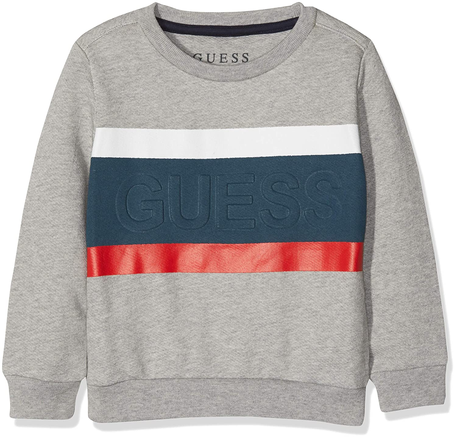 Guess Felpe Manica Lunga LS Fleece, Sweat-Shirt À Capuche Sport Bébé garçon, Gris (Light Heather Grey M Lhy), 86 (Taille Fabricant: 2) N83Q09K5WK0