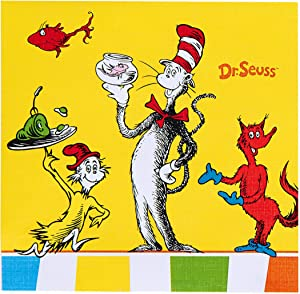 Birthday Express Dr. Seuss Favorites Beverage Napkins, Set of 20