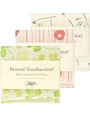 Nawrap Printed Handkerchief Set of 3, Animal, Poppy & Clover