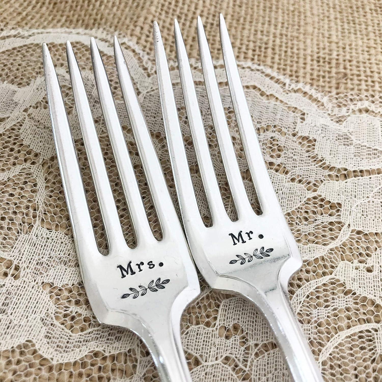 Mr. and Mrs. Vintage forks set,