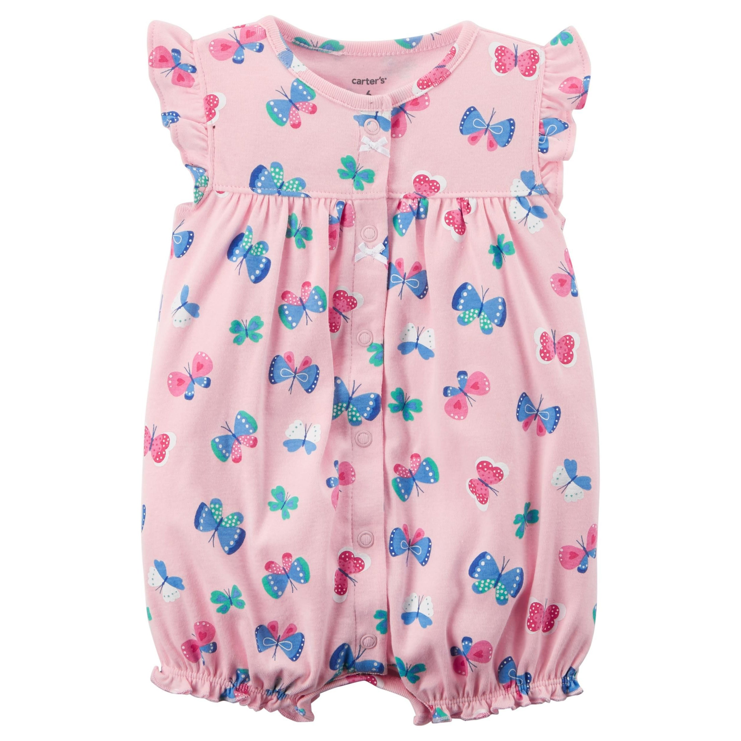 a7a0bfb7a14 Galleon - Carter s Baby Girls  Butterfly Snap Up Romper 24 Months