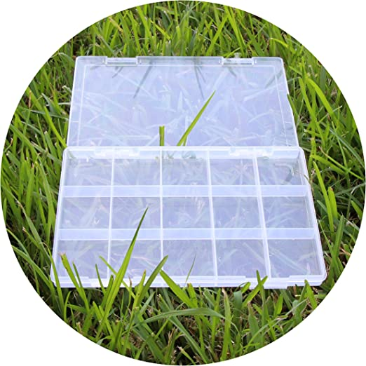 Plastic Storage Case15 Compartments Electronic Component Box Organizer