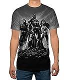 Justice League Batman Wonder Woman Superman Portrait Mens T-shirt