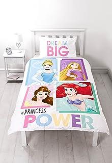 Disney Princess Cameo Single Duvet Set-Large Print Design Polyester-Cotton Multi-Colour