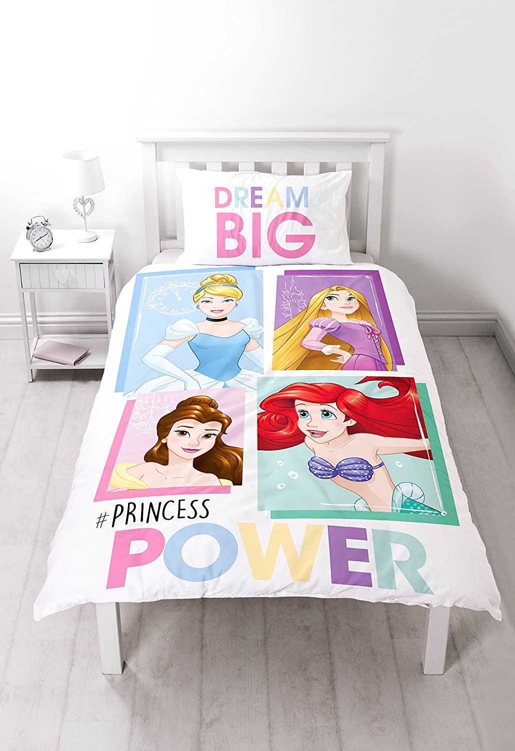 Disney Princess 'BRAVE' Single Duvet Set - Large Print Design Character World DPCBRVDS002UK1
