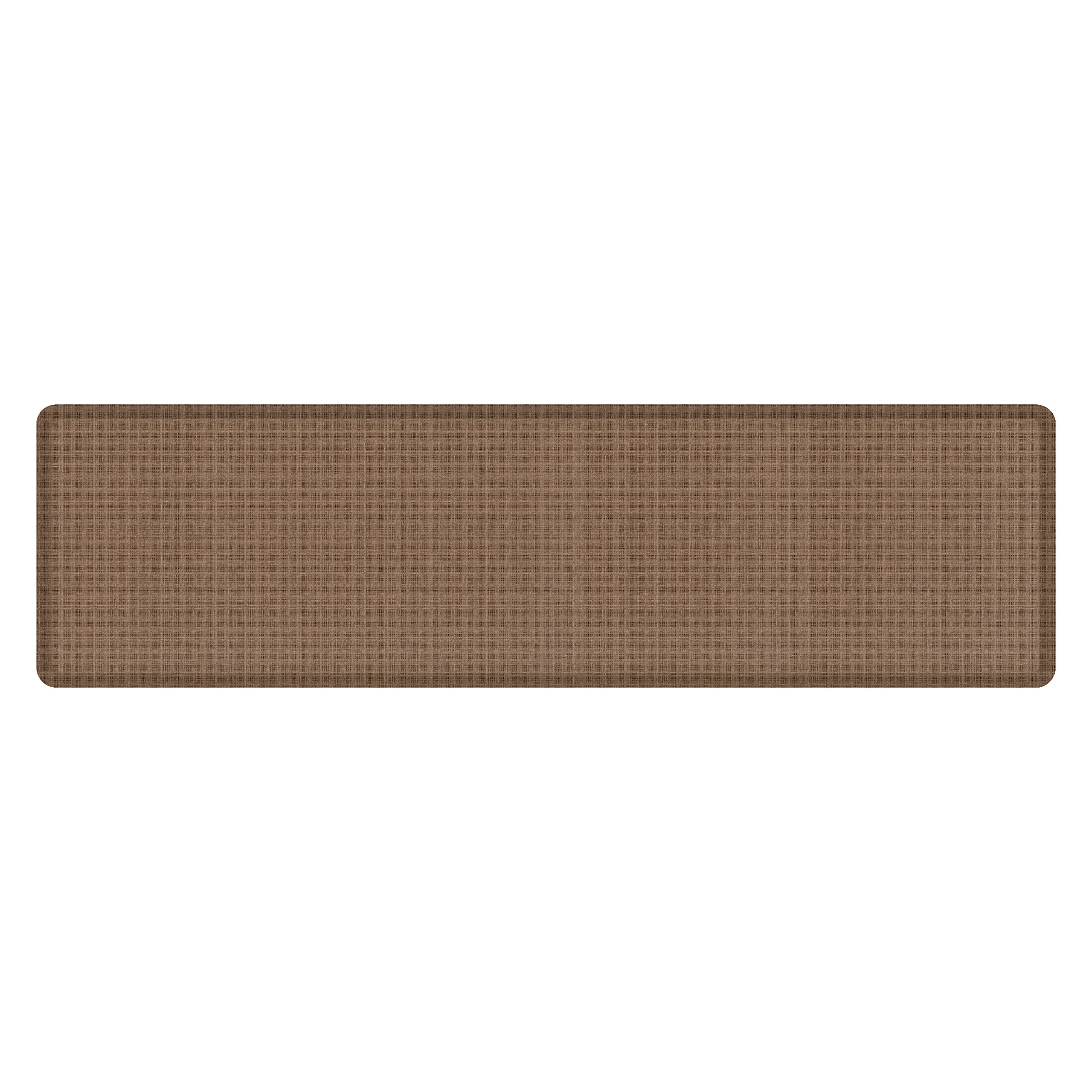 """NewLife by GelPro Anti-Fatigue Designer Comfort Kitchen Floor Mat, 30x108'', Tweed Light Walnut Stain Resistant Surface with 3/4"""" Thick Ergo-foam Core for Health and Wellness by NewLife by GelPro (Image #1)"""