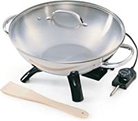 Stainless-Steel Electric Wok