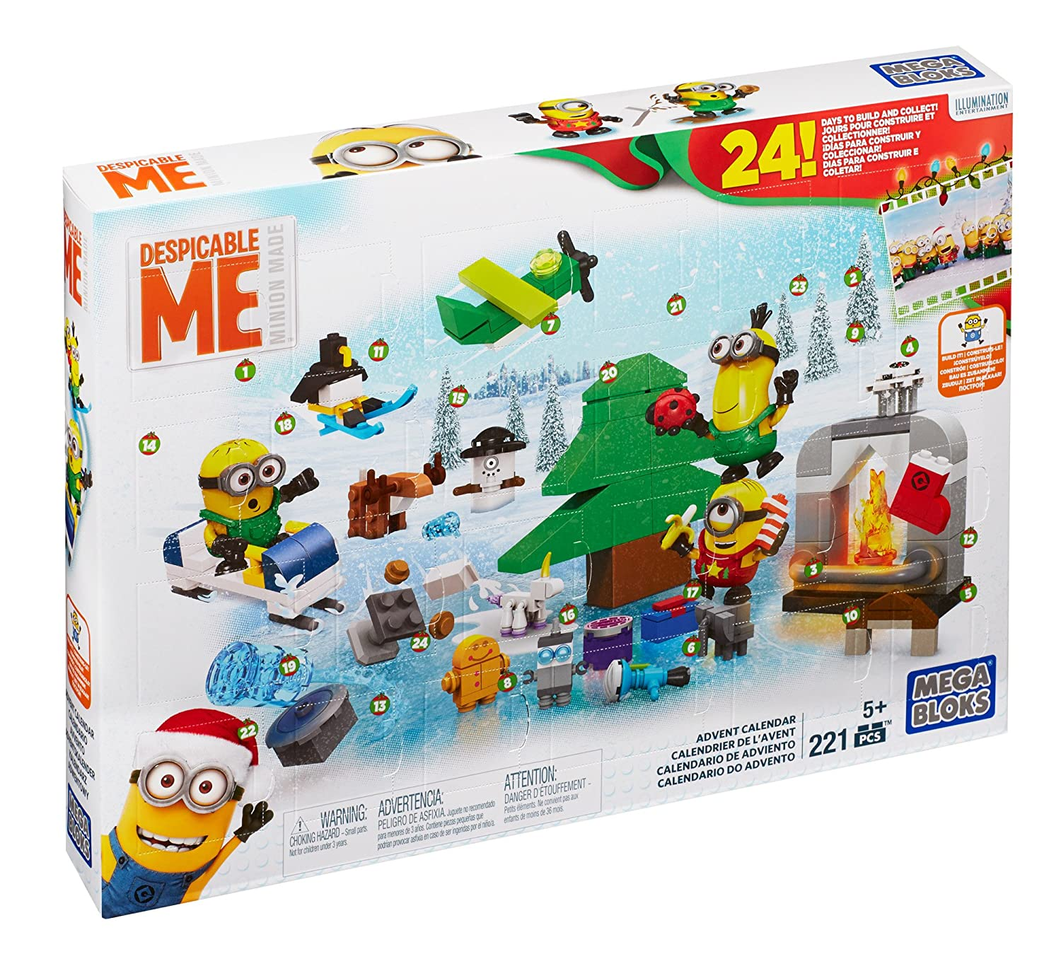 Mega Construx Despicable Me 2017 Advent Calendar with the Minions