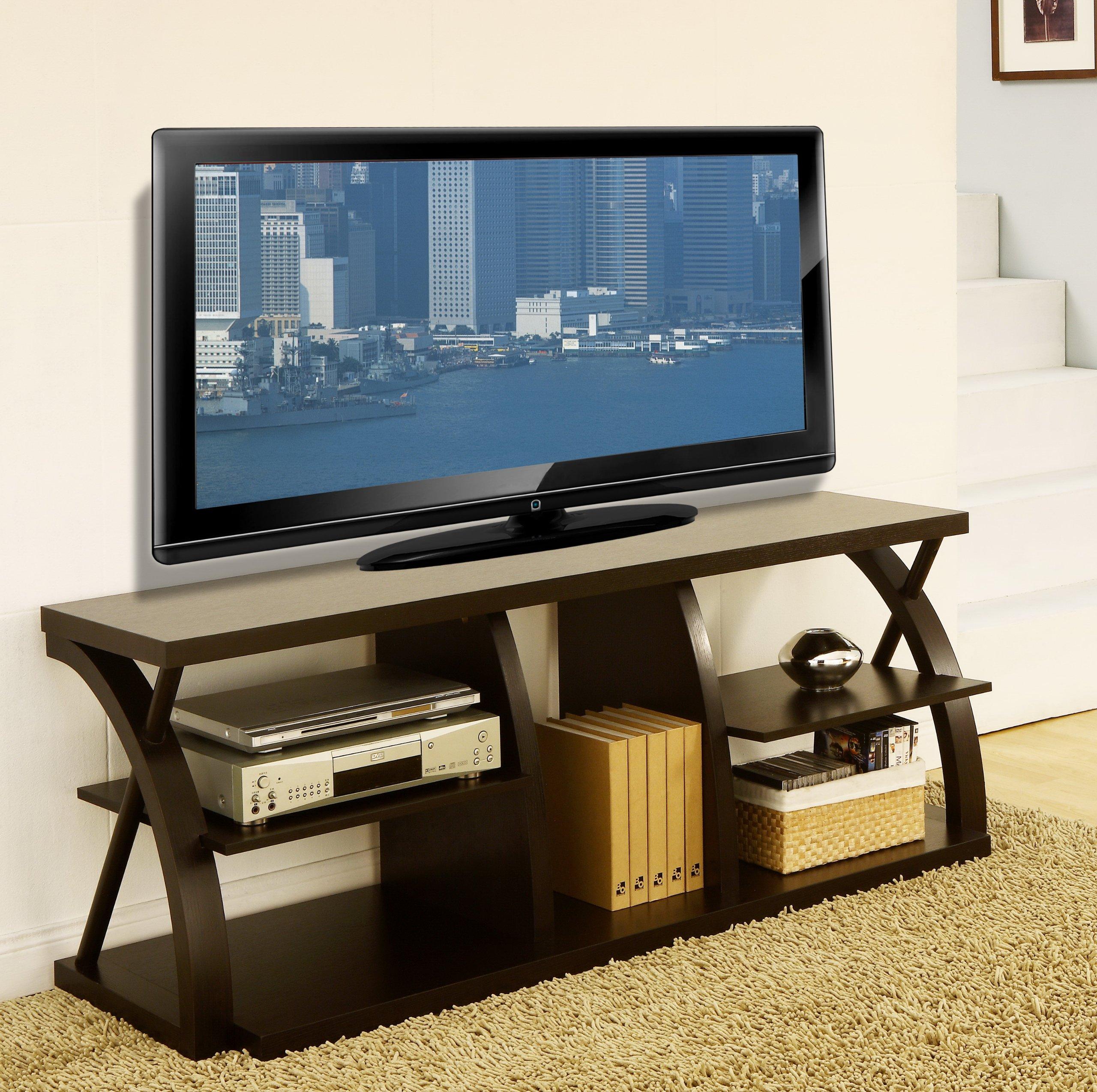 ioHOMES Baltic 60-Inch Tv Stand, Dark Espresso