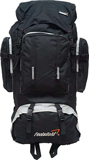 2280cf1de748 foolsGold Extra Large Hiking Travel Backpack Rucksack with Dual Loading