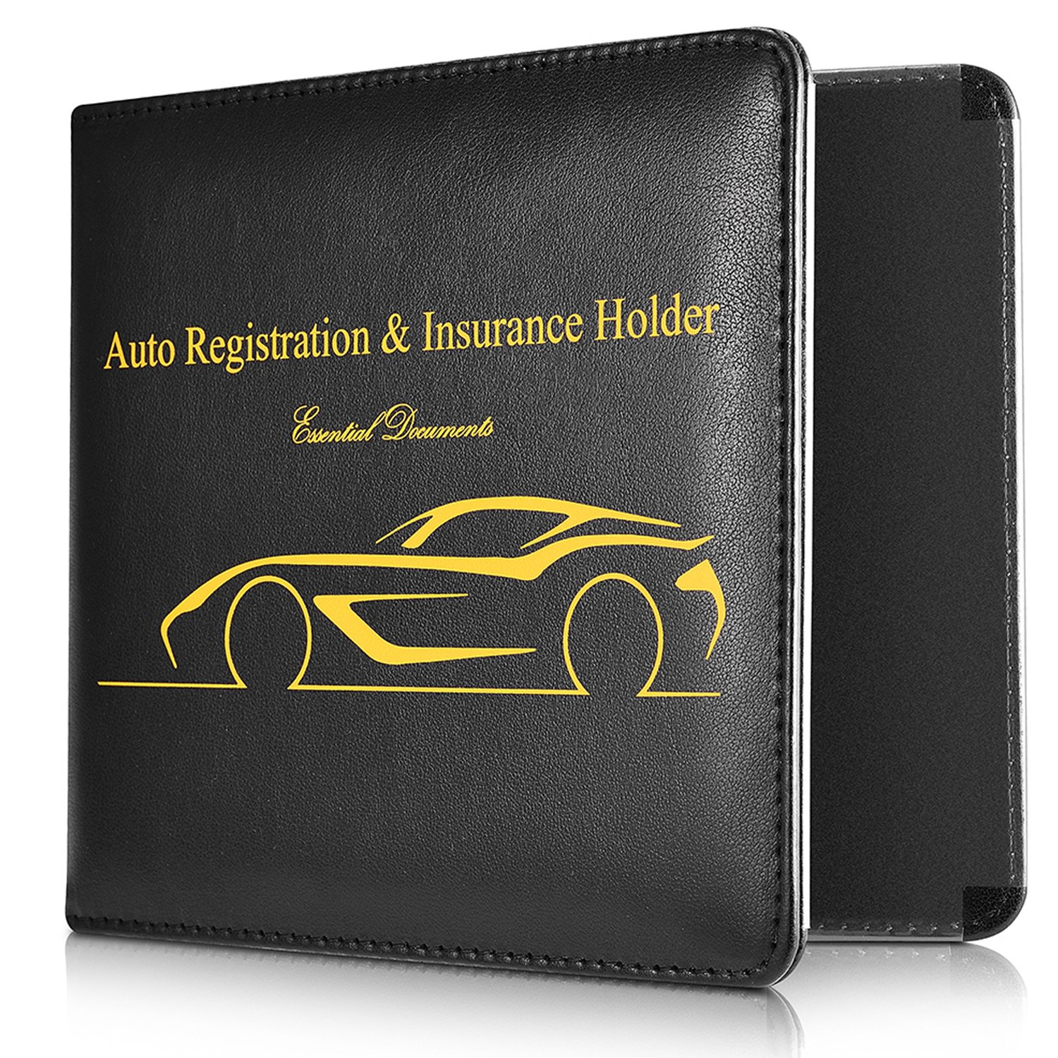 Amazon.com: Basenor Car Document Holder, Slim Leather Water ...