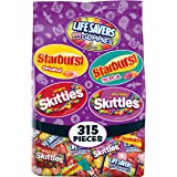 Skittles, Starburst and Life Savers Gummies Halloween Candy Bag, 315 Fun Size Pieces, 99.78 ounce