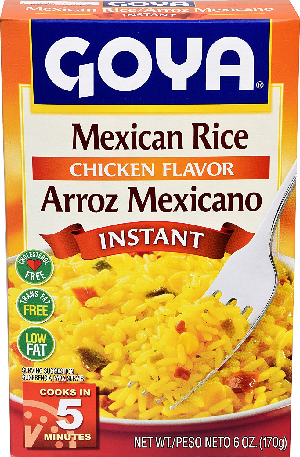 Goya Foods Mexican Rice 6 Pack, Instant, 144 Oz, Pack of 24