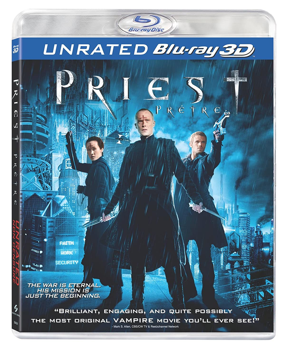 Priest 3D: Unrated - Prêtre 3D [Blu-ray 3D] (Bilingual) Maggie Q Paul Bettany Karl Urban Cam Gigandet