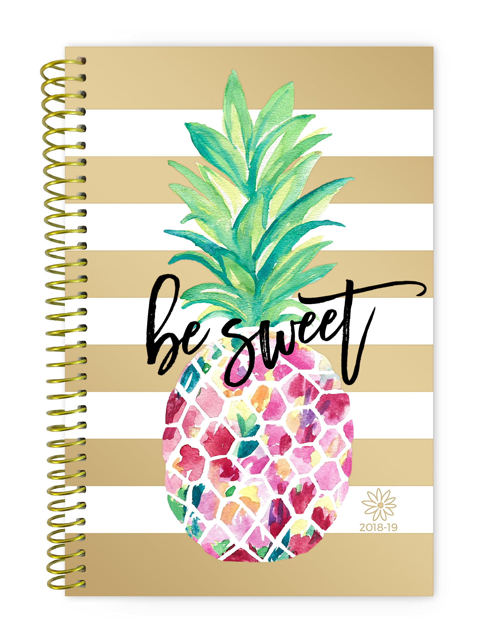 Bloom Daily Planners 2018-2019 Academic Year Day Planner - Monthly and Weekly Calendar Book - Inspirational Dated Agenda Organizer - (August 2018 - July 2019) - 6'' x 8.25'' - Pineapple