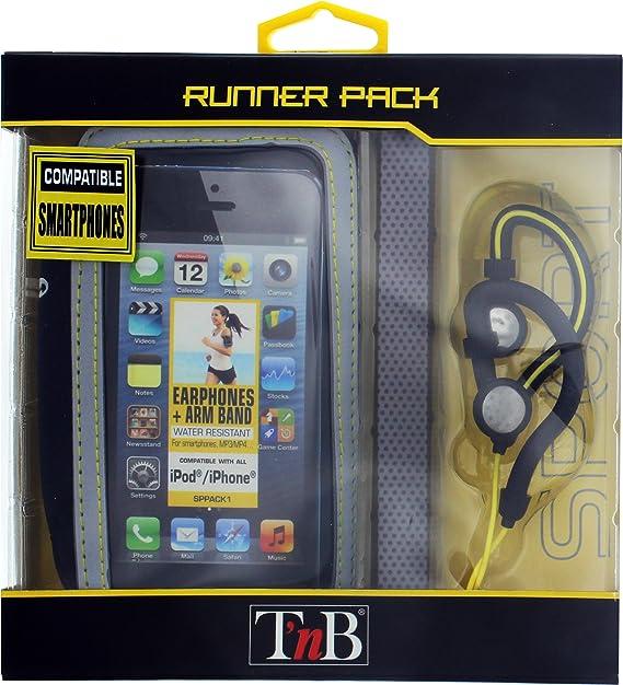 TnB SPPACK1 - Pack Brazalete Porta Smartphone + Auriculares Tnb ...