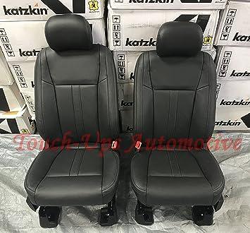 Amazon Com 2015 2016 2017 2018 Ford F 150 Supercrew Xlt Katzkin Black Leather Seat Covers Automotive