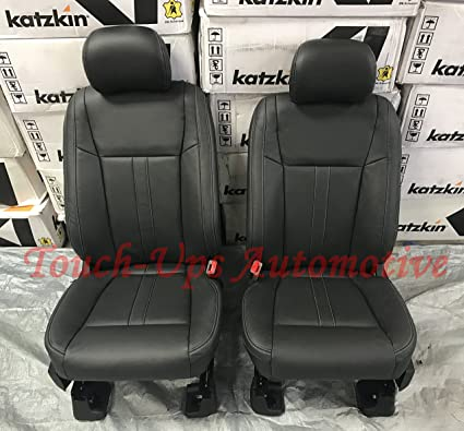 2015 2016 2017 2018 Ford F 150 Supercrew Xlt Katzkin Black Leather Seat Covers