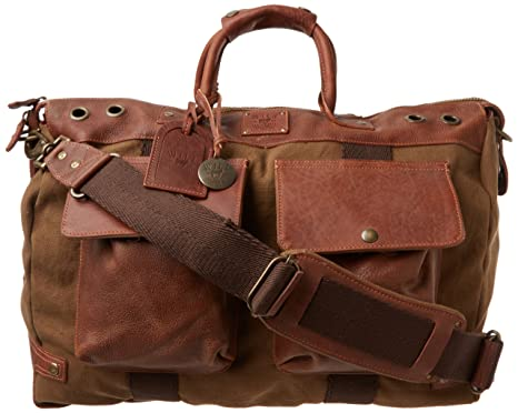 Amazon.com: Will Leather Goods Men's Traveler Duffle Bag, Tobacco ...