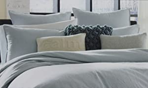 Kenneth Cole Reaction Home European Pillow Sham from the Mineral Bedding Collection in a Stoney Blue Color