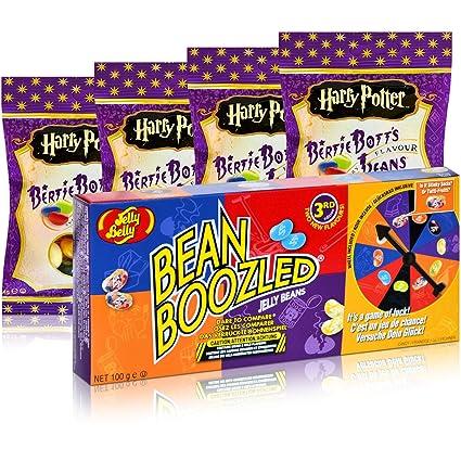 1xJelly Belly Bean Boozled Partyspiel & 4xJelly Belly Harry Potter Bertie Bott´s Sweetsking Set