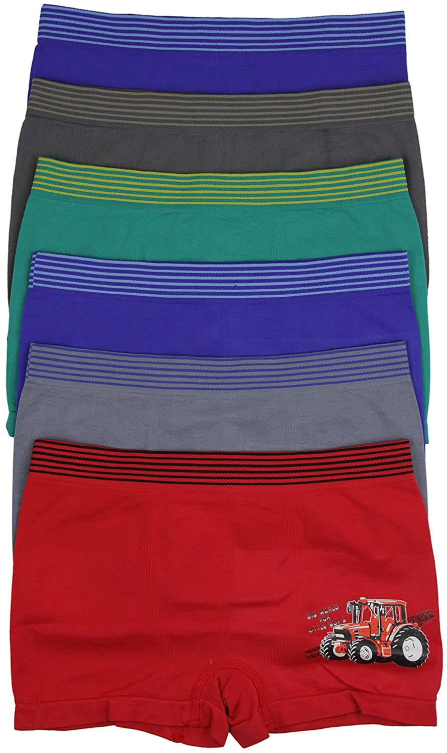 ToBeInStyle Boys Pack of 6 Graphics Boxer Briefs