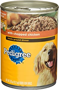Pedigree Meaty Ground Dinner With Chopped Chicken Canned Dog Food 13.2 Ounces (Pack Of 24)