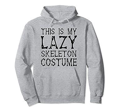 sc 1 st  Amazon.com & Amazon.com: My Lazy Skeleton Costume Halloween Party Hoodie: Clothing