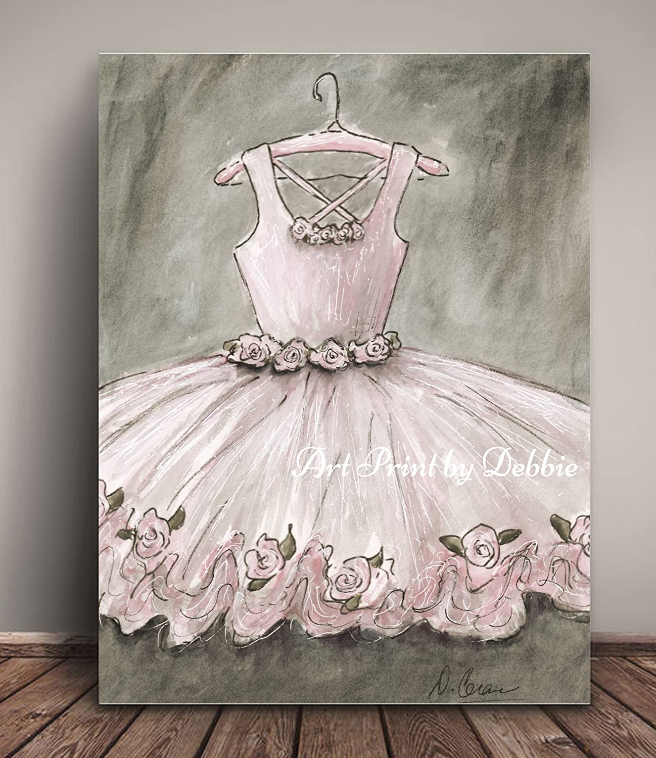 Set Of 2 Vintage Bedroom Prints Blush Pink Ballet Nursery Wall Art Girls Ballerina Room Decor Personalized Artwork 6 Sizes 5x7 to 24x36 Tutu And Pointe Shoes