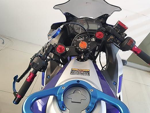 7//8/'/' Split Clip On Handlebars 43mm for YZF R6 FZR 1000 ZX1100 Ninja M2 Cyclone