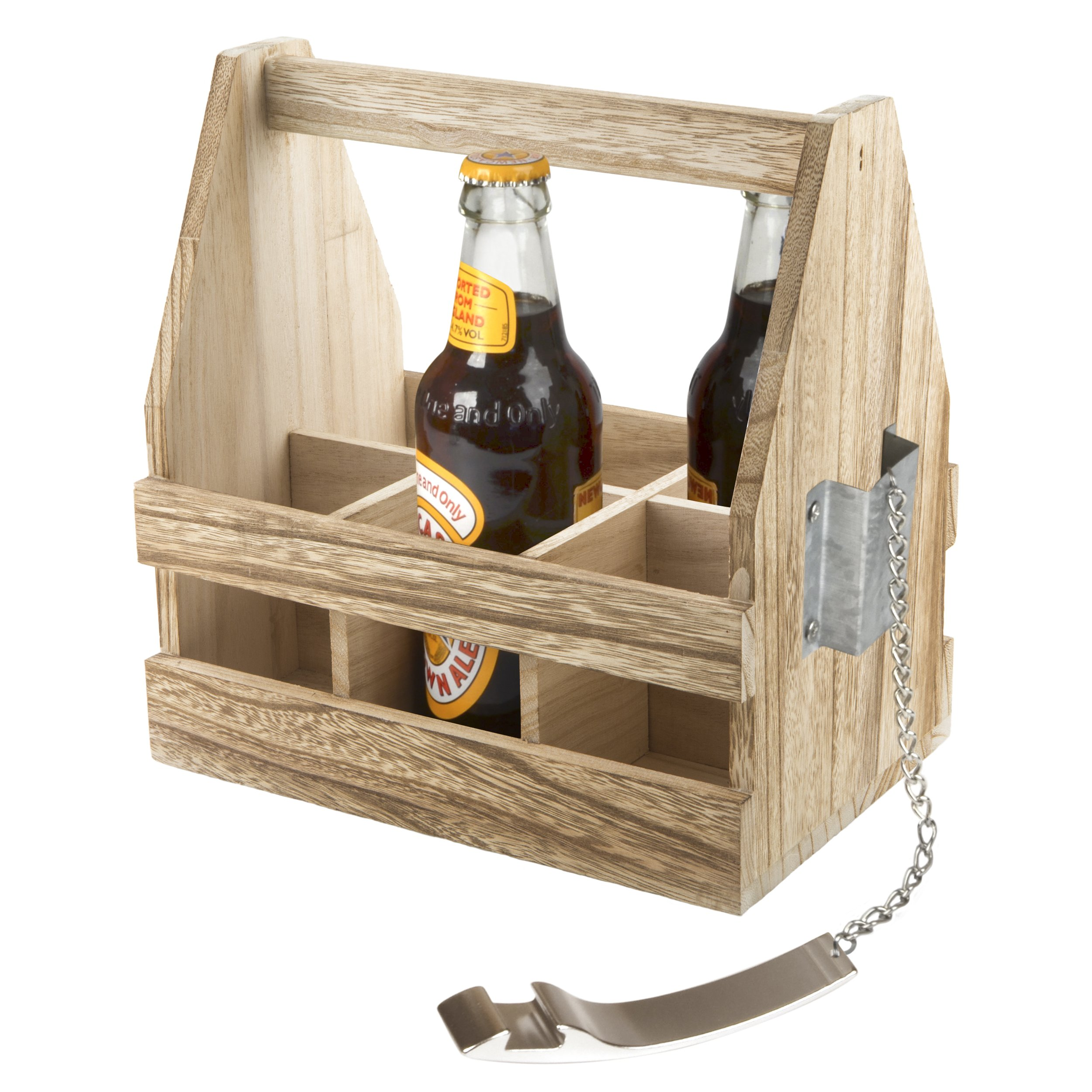 Artland 22110 Beer Bottle Caddy, Medium, Wood