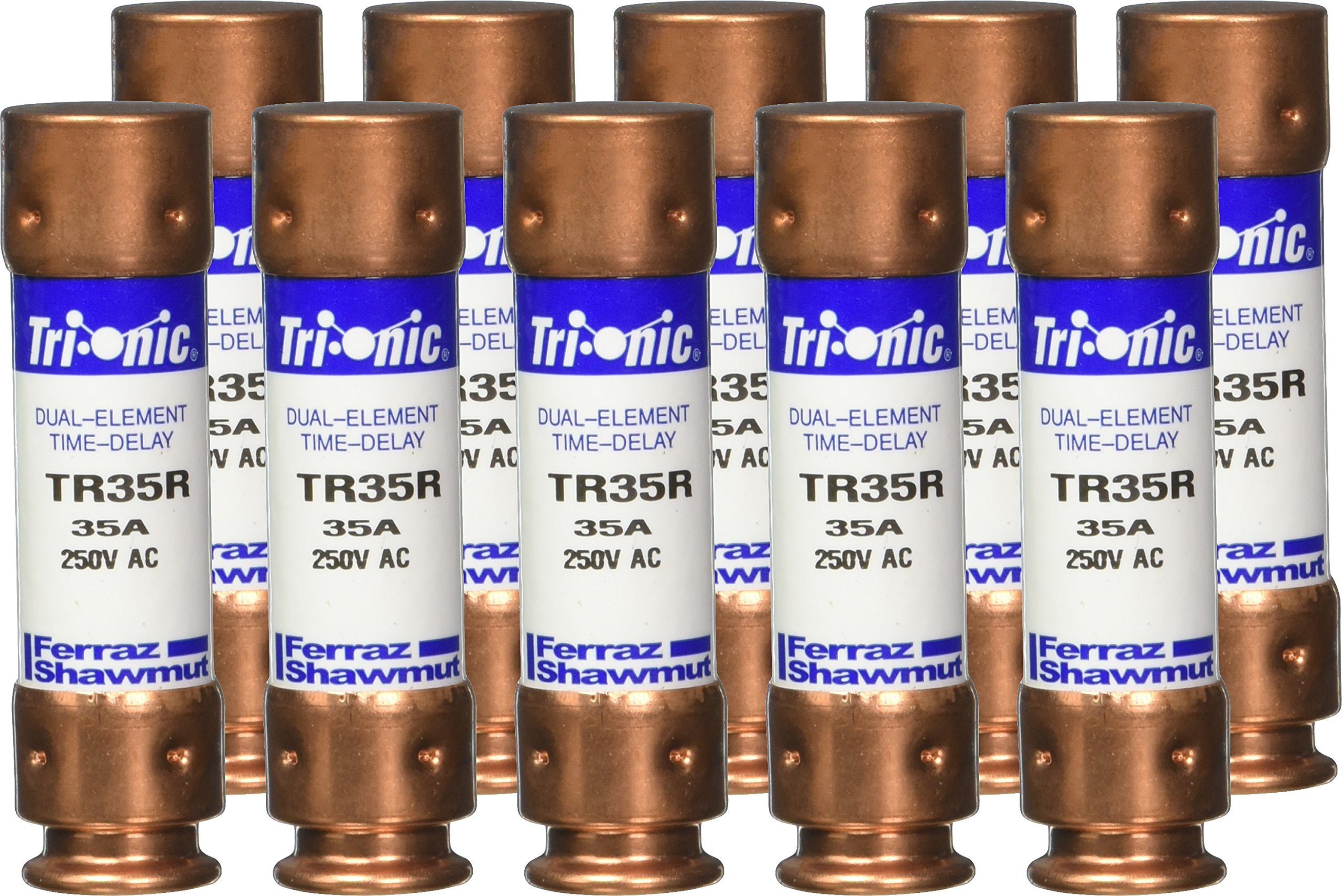 Mersen TR35R 250V 35A 3X13/16 Rk5 Time Delay Fuse, 10-Pack