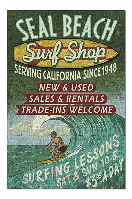 Amazon.com: Seal Beach, California – Surf Shop Vintage ...