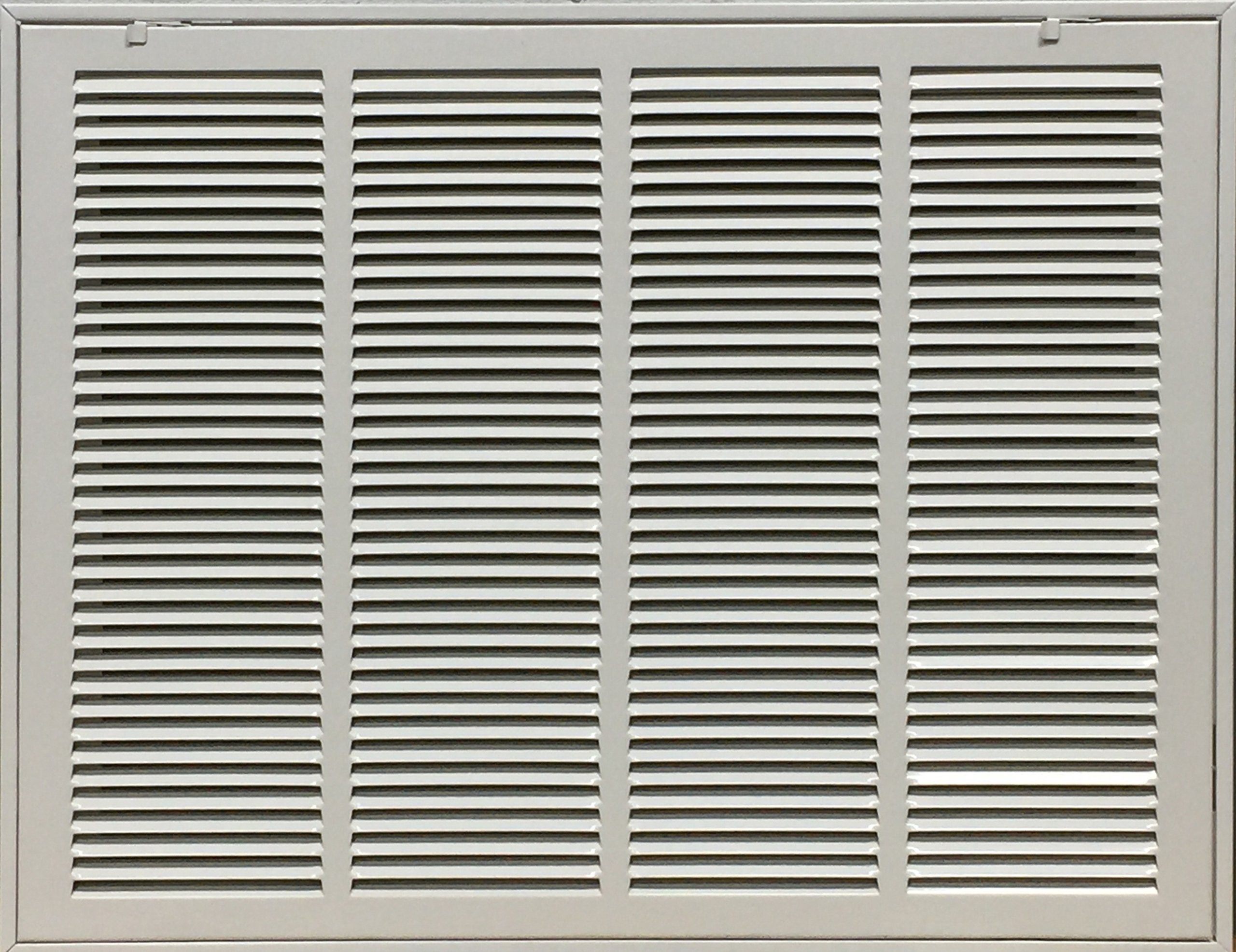 Steel Return Filter Grille Stamped-Face 24'' X 18'' (duct opening size)