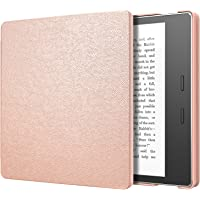 MoKo Case for All-New Kindle Oasis (9th Generation, 2017 Release) - Slim Fit Premium PU Leather Protective Cover with Auto Wake / Sleep for Amazon Kindle Oasis E-reader Case, Rose Gold