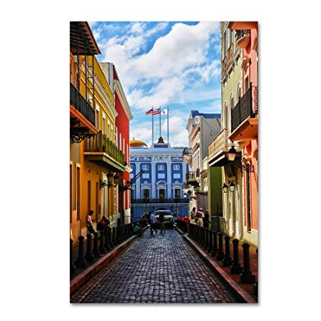 Old San Juan 7 by CATeyes, 30×47-Inch Canvas Wall Art
